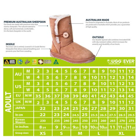ugg slipper size guide uggs size conversion illinois institute of technology