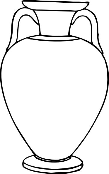 Vase Line Drawing by Outline Hora Clip At Clker Vector Clip