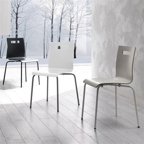 sedie in metallo moderne sedia show in metallo e legno moderna da cucina