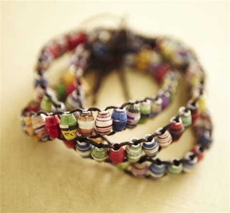 How To Make Paper Bead Bracelets - how to create paper for jewelry paper