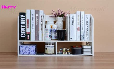 eco friendly simple office book shelves desktop small book