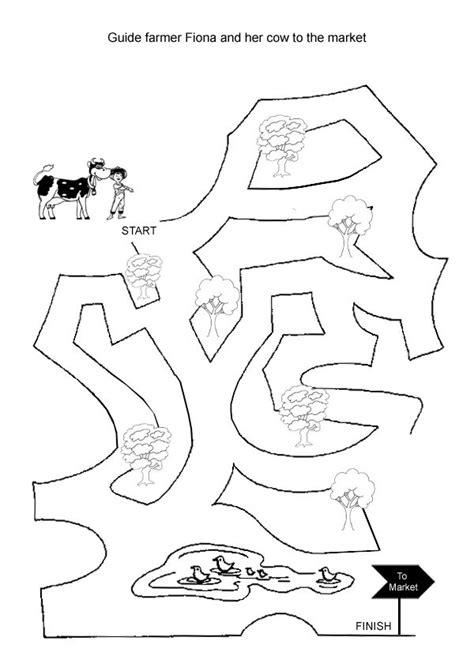 printable cow maze 562 best may preschool farm farm animals pets bugs