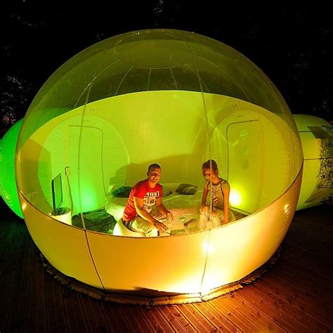 bubble tent inflatable bubble tent with two privacy tunnels 187 petagadget
