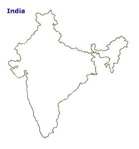 India Map Outline by Geography Blog India Outlines Maps