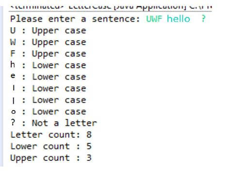 Character Uppercase Letter Java Programming Enter A Sentence Tells You If Each