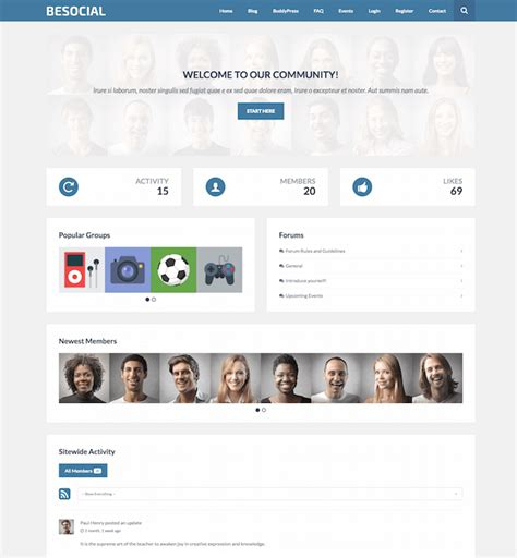 80 best buddypress themes for 2017 updated