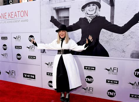Studded Tribute To Diane Keaton Open All by Studded Afi Achievement Award Tribute To Diane