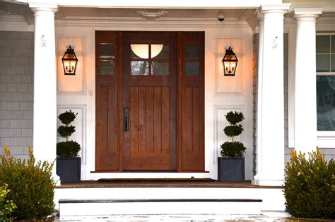 front door lanterns black metal wall sconces lantern style guarding the front door artenzo