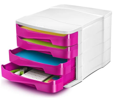 pink plastic storage drawers argos buy cep 4 drawer desktop storage pink at argos co uk