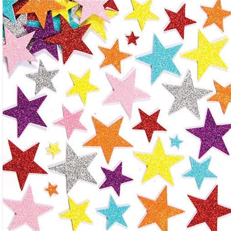 Paper To Make Stickers - 50pcs 3d glitter adhesive foam sticker card craft