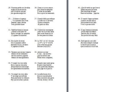 poemas de 4 estrofas de padre de 8 silabas geli cano recursos para educaci 243 n infantil graduacion
