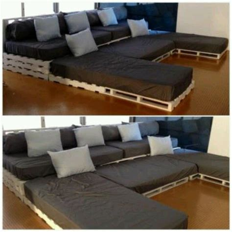 movie theater sectional pallet sectional with twin matresses movie night if we
