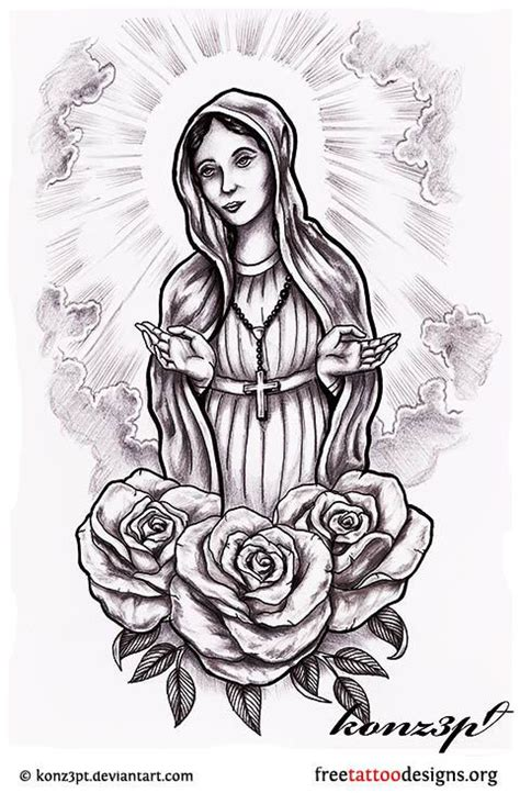 blessed mother tattoo designs 38 best outlines images on