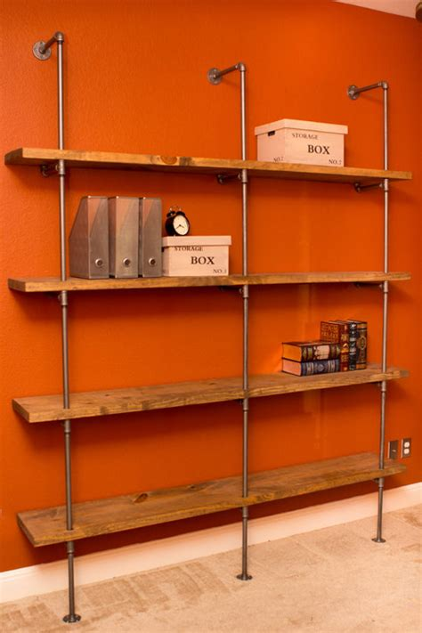 industrial modern pipe shelving unit furniture wxh
