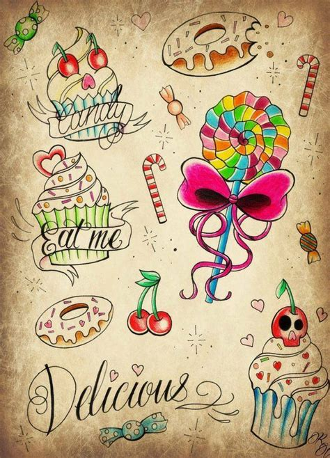 candy and cupcake tattoo designs pin by gideon crandall on s sxy ideas