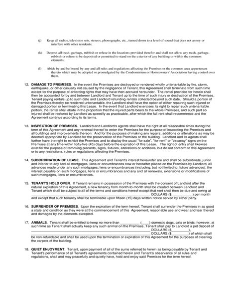 printable residential lease agreement nj residential lease agreement new jersey free download