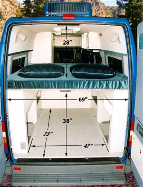 van with bed raised hoisted bed sprinter forum