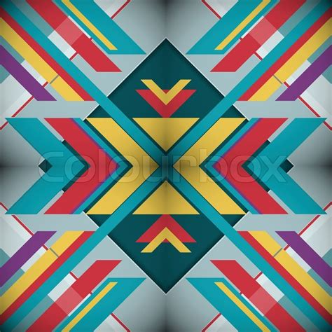 abstract geometric design elements vector kaleidoscope geometric abstract vector background eps10