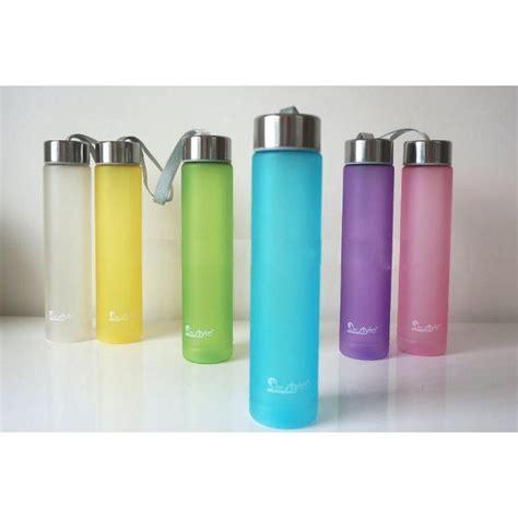 Botol Minum Plastik H2o 280ml botol minum plastik tabung transparan frosted 280 ml sm 8254 white jakartanotebook