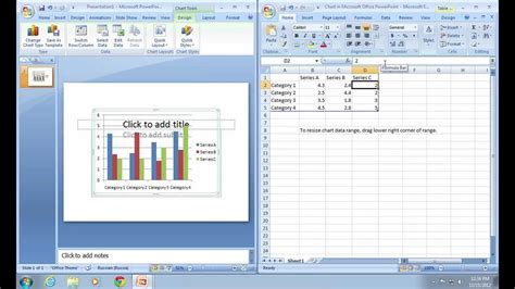 tutorial excel powerpoint how to link excel chart in powerpoint 2007 youtube