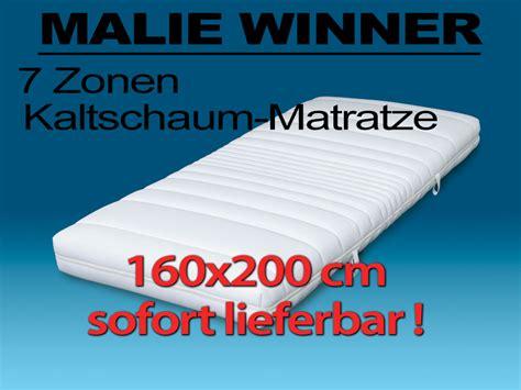 malie 7 zonen kaltschaum matratze 160x200 cm