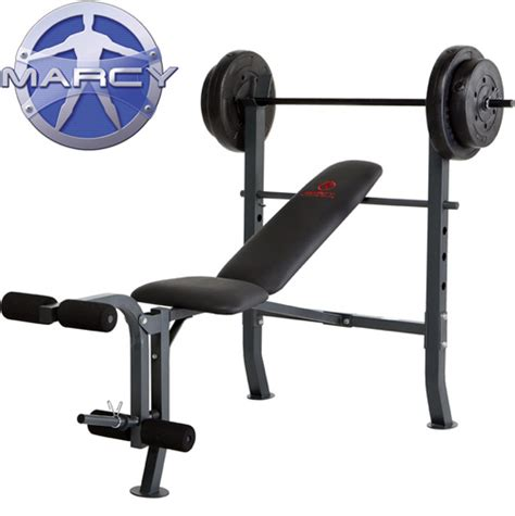 marcy standard weight bench with 80 lb weight set heartland america marcy standard bench with 80 lb weight set