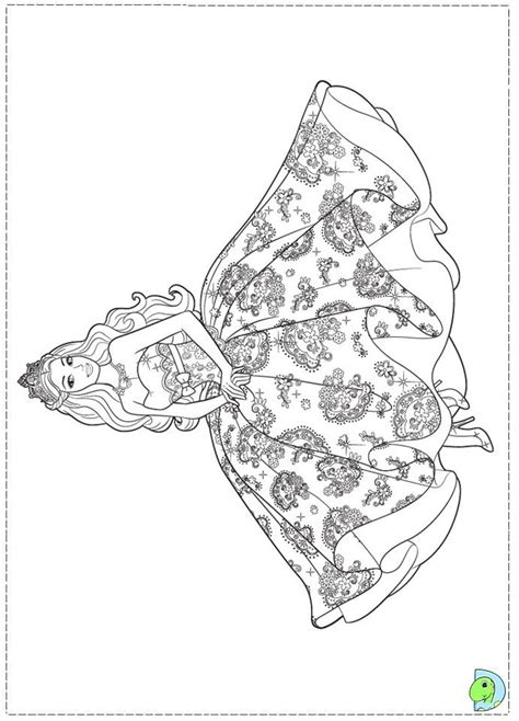 barbie princess coloring page for girls dresses for