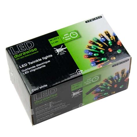Battery Outdoor Lights With Timer Battery Operated 3 6m Length Of 48 Multicoloured Indoor Outdoor Multi Effect Led Lights