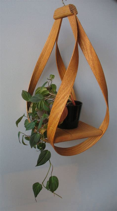 bentwood hanging plant holder   etsy hanging