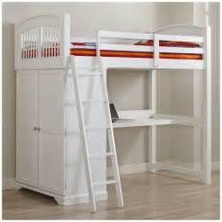 size loft bed with desk and storage whitevan