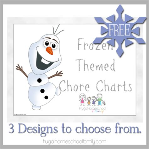 free frozen themed chore charts