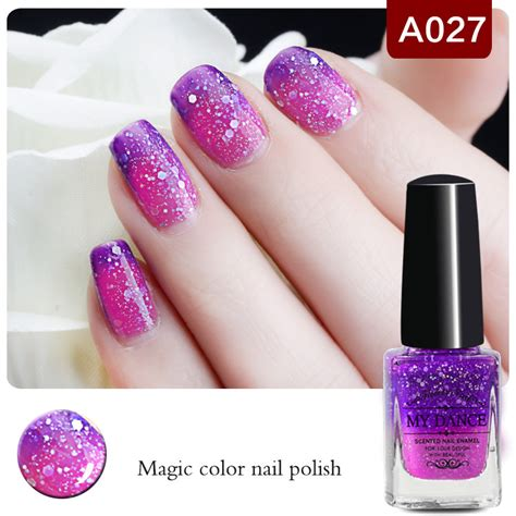 nail that changes color 1 bottle 6ml purple peel temperature color