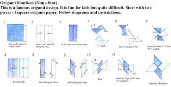 How To Make A Paper Ninga - make origami paper shuriken 171 embroidery origami