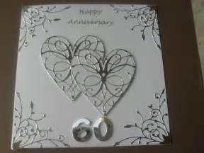 handmade wedding anniversary card 60th wedding anniversary ebay