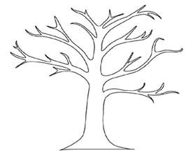 tree to color bare tree coloring page az coloring pages