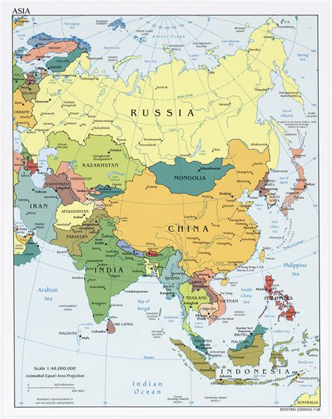 map of asian countries large detailed political map of asia with capitals and