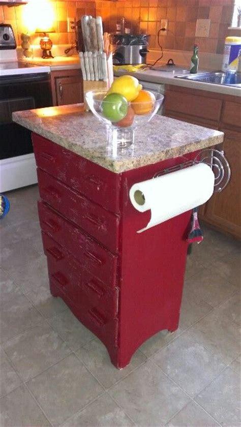 Repurposed Kitchen Island Repurposed Dresser Into A Kitchen Island Furniture Paper Towel Rolls Towels