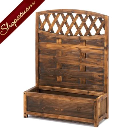 Decorative Wooden Planter Boxes by Beautiful Decorative Garden Planter Trellis Fir Wood