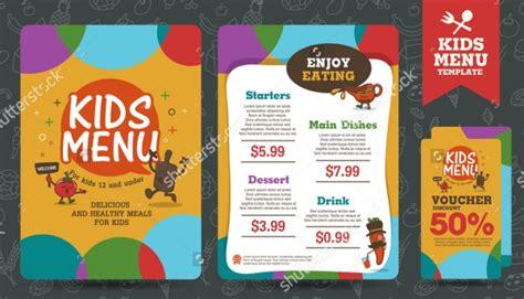 a5 menu template 15 kindergarten brochure templates free pdf designs