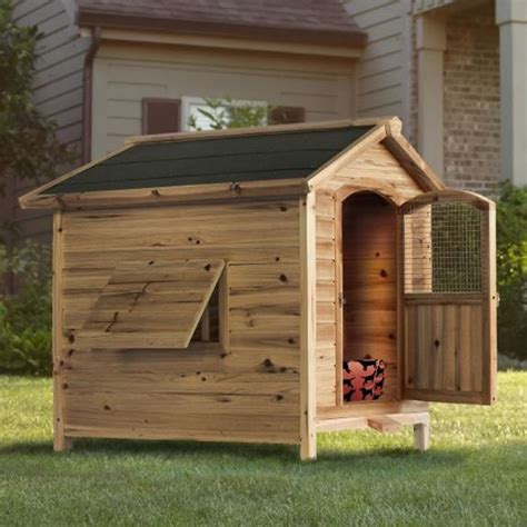 hinged roof dog house large wooden cedar dog house kennel hinged roof removable floor puppy pet ebay