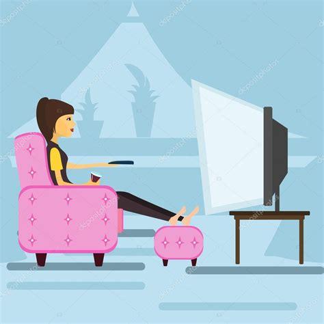 imagenes animadas viendo tv ni 241 a viendo la televisi 243 n vector de stock 169 gleb261194