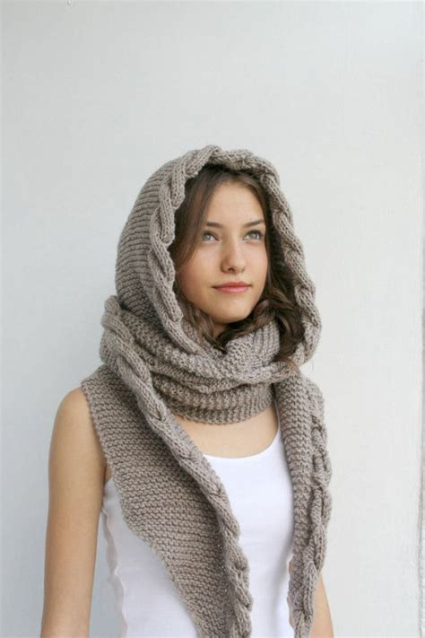 hijab knitting pattern chunky hood knitted scarf ideas with hijab girls hijab