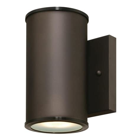 up down bronze cylinder outdoor wall light westinghouse mayslick 1 light oil rubbed bronze outdoor