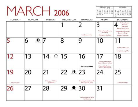 Calendario Abril 2006 Yuma 2006 Calendar