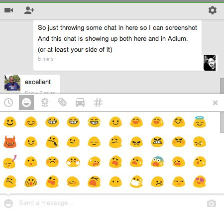 android emoticons list on with hangouts s new text and chat architecture ars technica