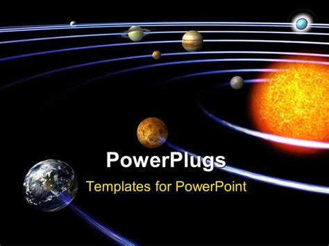 powerpoint template schematic depiction of the solar