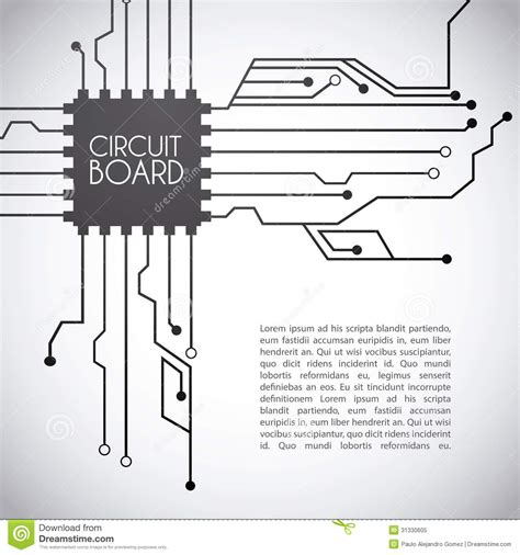 vector board layout circuit board design royalty free stock photo image