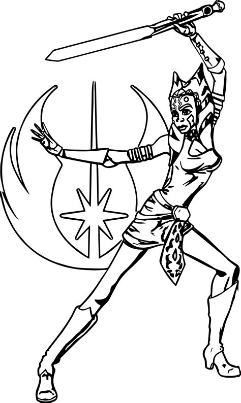 Ahsoka Tano Coloring Pages Pictures To Pin On Pinterest Ahsoka Coloring Pages