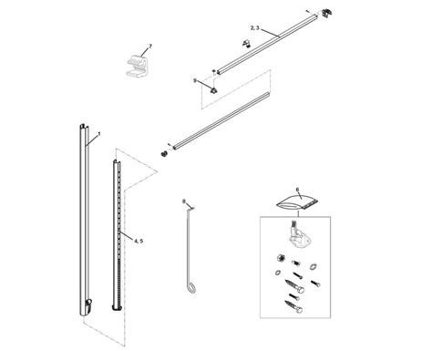 Rv Awning Parts Diagram by Dometic 8500 Awning Parts Diagram