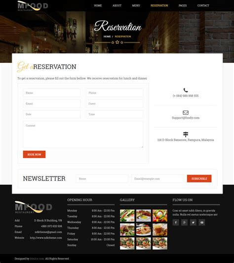 html5 template file mfood restaurent and food html5 template by t3theme